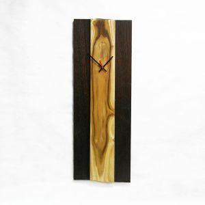 Long oak wooden clock