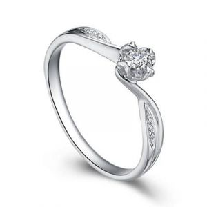Real diamond engagement ring for her