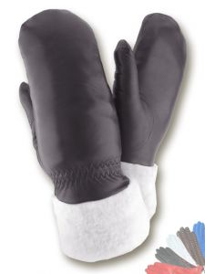 Womens leather mittens