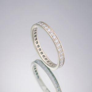 Tiny diamond wedding ring