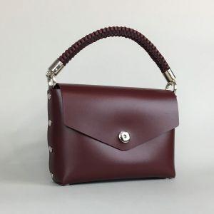 Burgundy leather mini bag