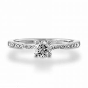 Women's gold diamond ring 0.53 carat