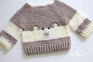 "Baby crochet sweater ""Funny Bear"""