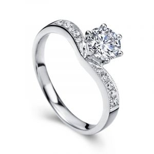 Unique diamond ring for her