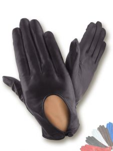 Ladies leather driving gloves
