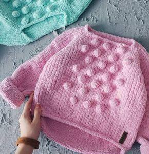 """Baby girl crochet sweater """"Sweet Dreams"""""""