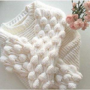 Fancy crochet sweater for girl