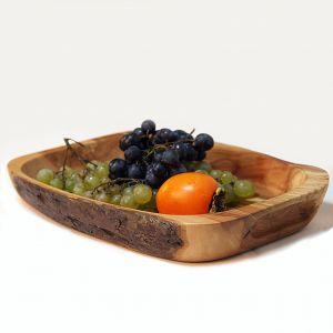 Rustic rectangular breakfast tray
