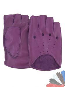 Womens fingerless leather gloves