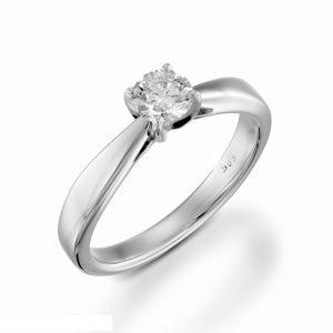 Diamond gold ring for girl 0.15 carat