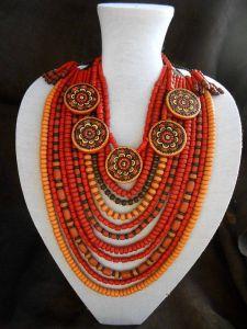 Chunky ethnic necklace