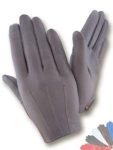 Ladies grey leather gloves