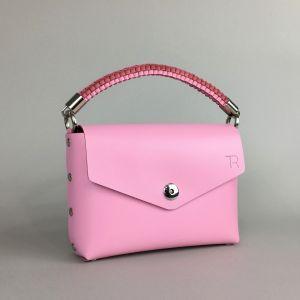 Pink leather mini bag