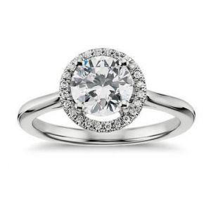 Ladies gold diamond ring 1 carat