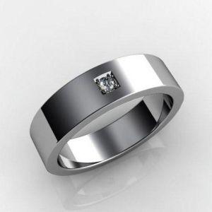 White gold wedding ring for him