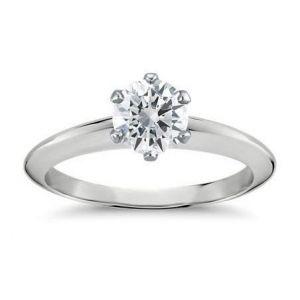1 Carat diamond rings in gold for women