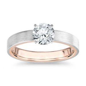 Gold diamond ring 1 carat