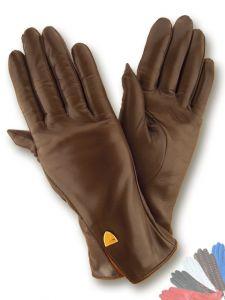 Ladies warm leather gloves
