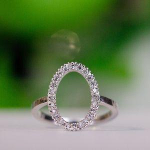 Каблучка з діамантами на фалангу