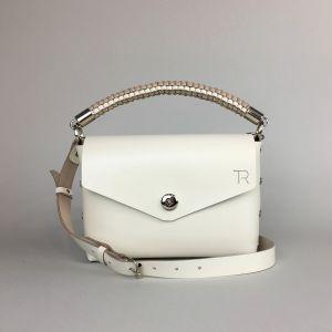 Beige leather mini bag