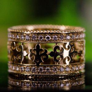 Bohemian chunky gold ring