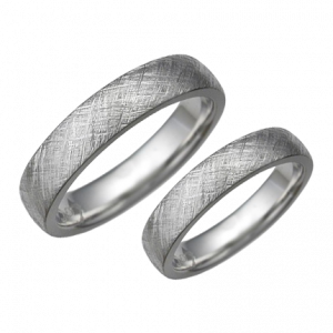 Texture patterned weding rings set