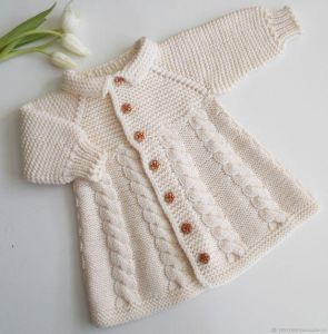 Baby girl knitted jacket