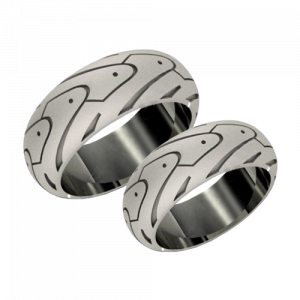 A pair of white gold wedding rings