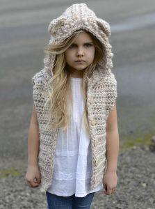 Kids hooded vest