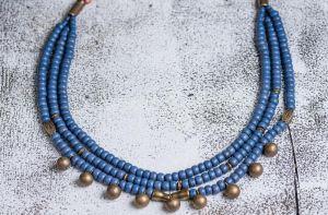 Ukrainian bead jewelry necklace