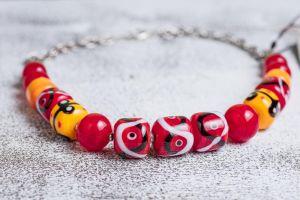 Lampwork technology necklace
