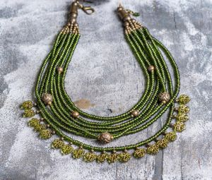 Author's beaded necklace