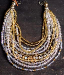 Lampwork technology chunky necklace
