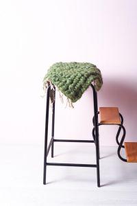 Kitchen chair cushion green