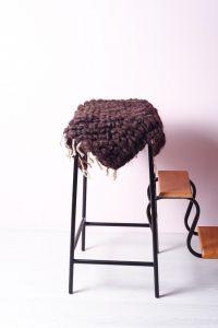 Outdoor black chair cushion