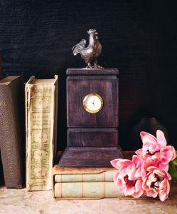 "Luxury wooden clock ""Rooster"""