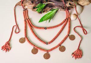 "Necklace for women ""Coin avangard"""