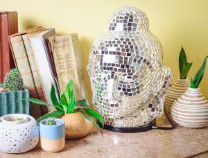 Mirror Buddha Table Lamp