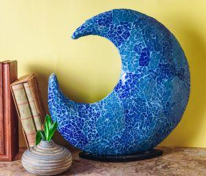 Mosaic moon Lamp