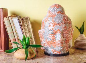 Mosaic Buddha Table Lamp
