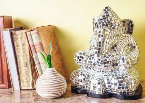 Mosaic Ganesha Table Lamp