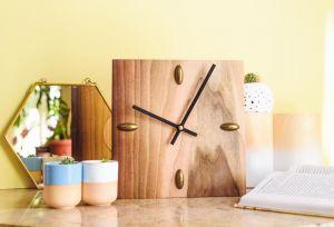 Decorative luxury wood wall clock