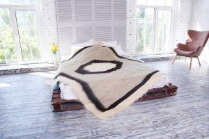 Handmade soft wool blanket