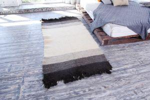 Modern wool area rug