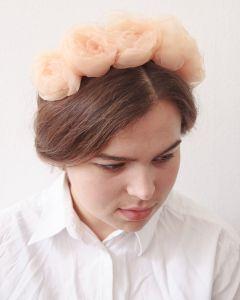 """Flower headband """"Peach pleasure"""""""