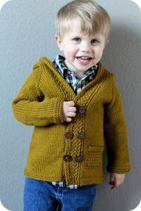 Baby boy knit hooded sweater