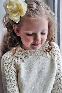 Hand knitting girl sweater