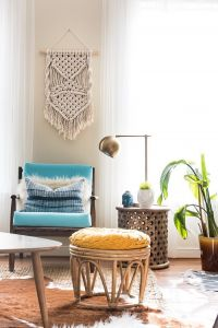 Ivory wall art tapestry