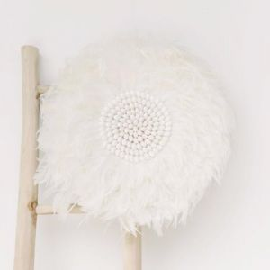 Large juju hat feather wall hanging