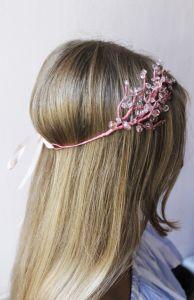 "Hair accessories. Hair band ""Pink branch"""